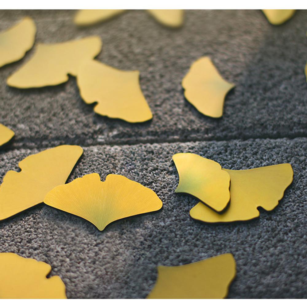 Gingko leaves magnet set
