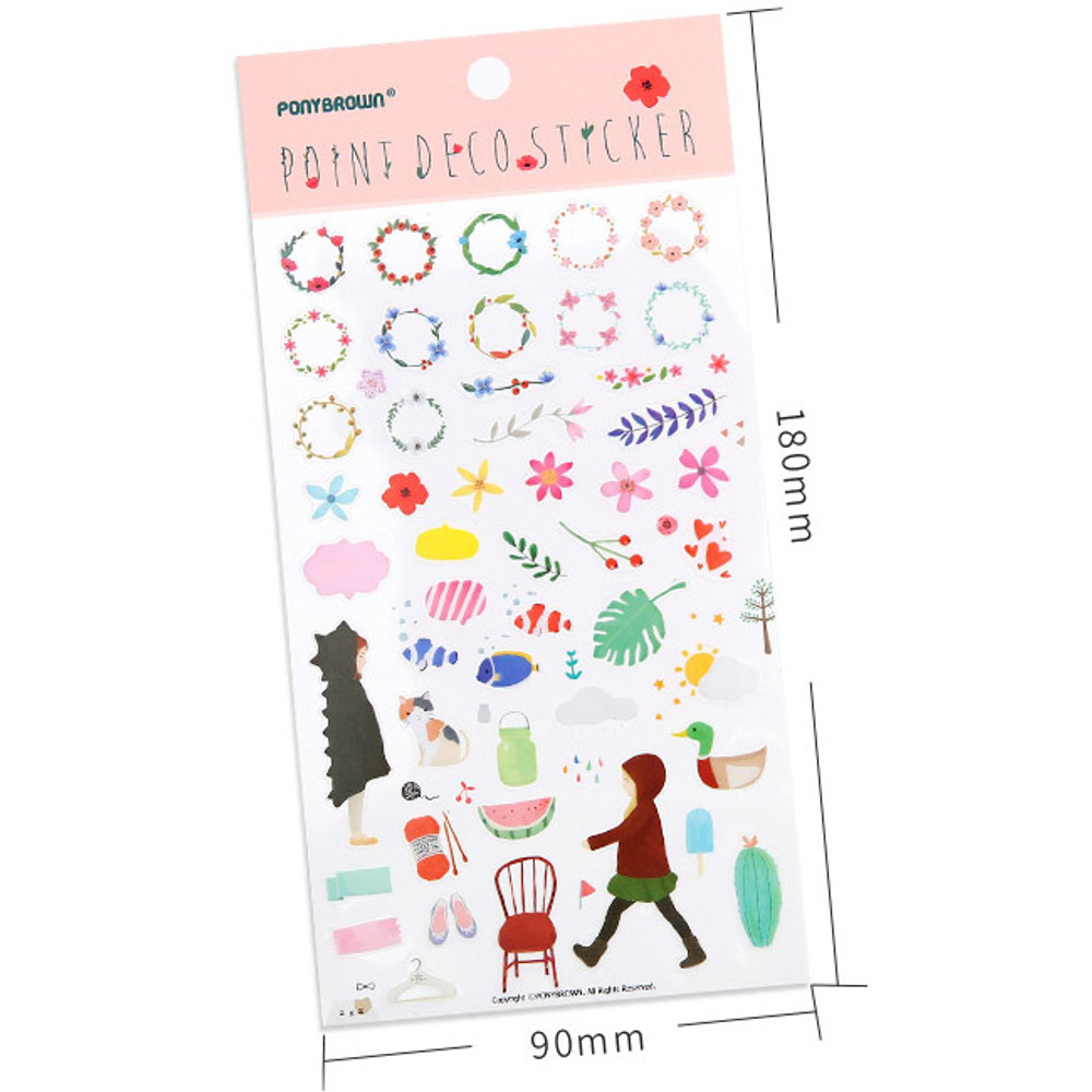 Point deco transparent sticker