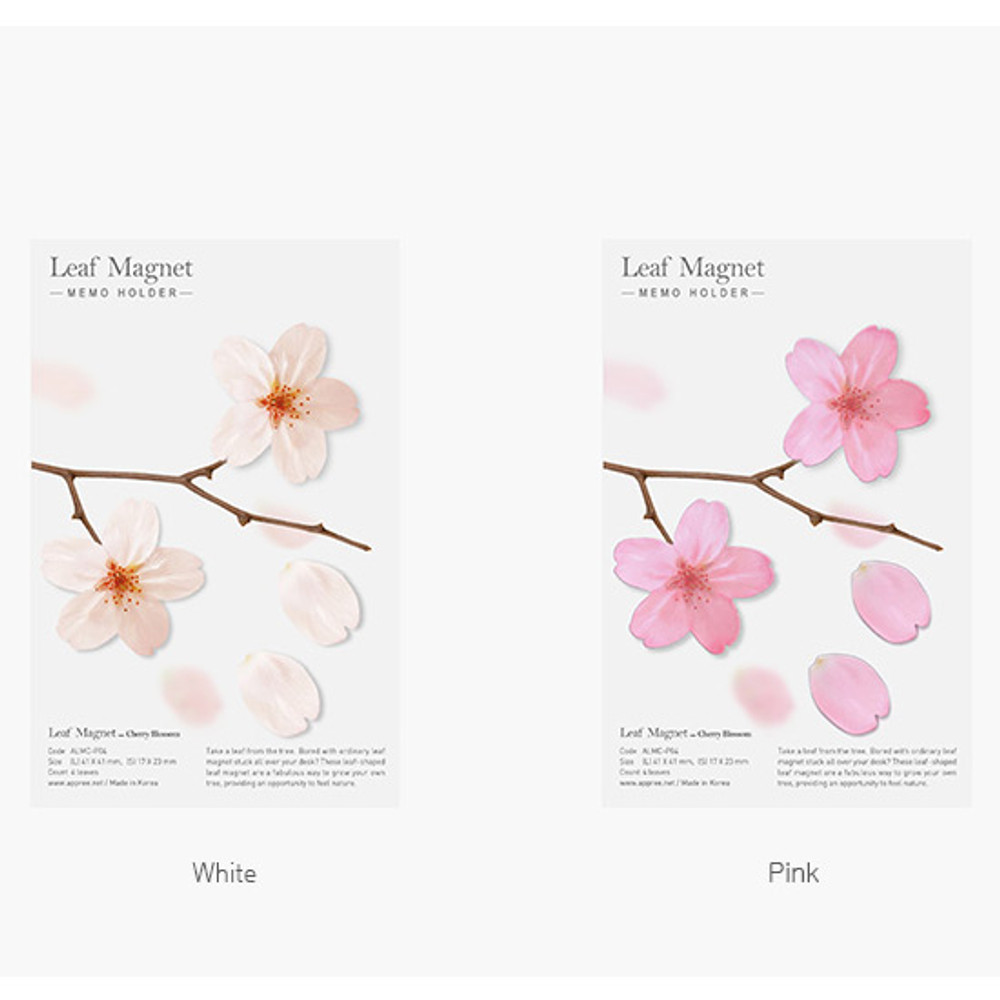 Color of Appree Cherry blossom magnet set