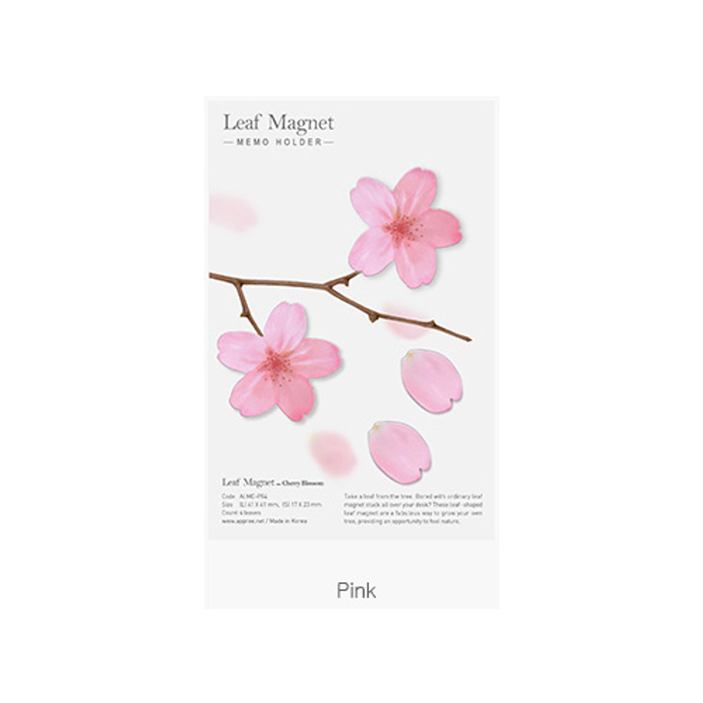 Pink - Appree Cherry blossom magnet set