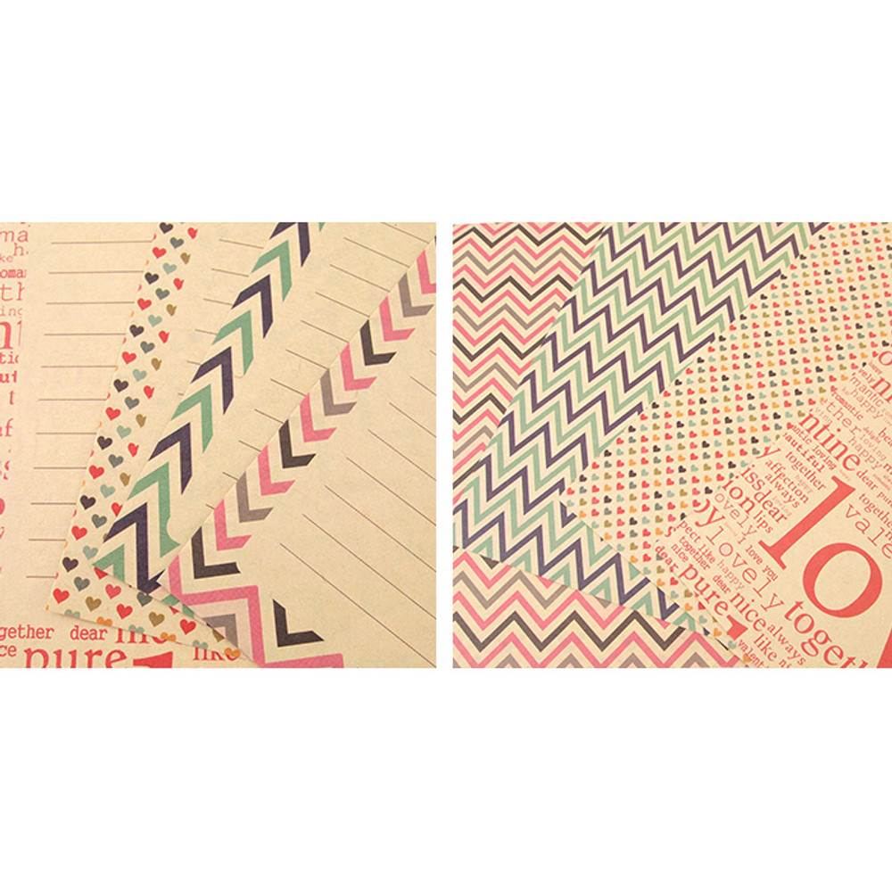 Detail of Especially for you kraft letter paper and envelope set