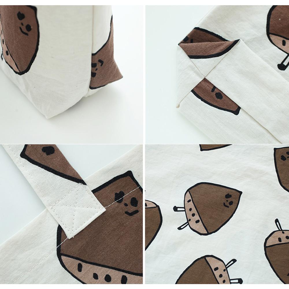 Detail of Jam Jam pattern cotton shopper tote bag