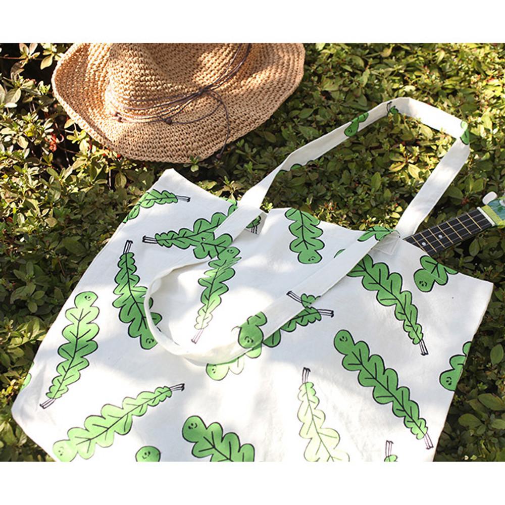 Foliage - Jam Jam pattern cotton shopper tote bag