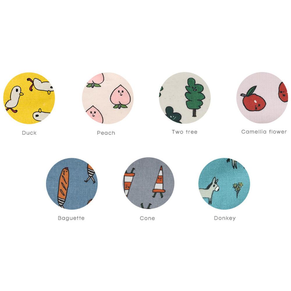 Patterns of Jam Jam pattern zipper pouch