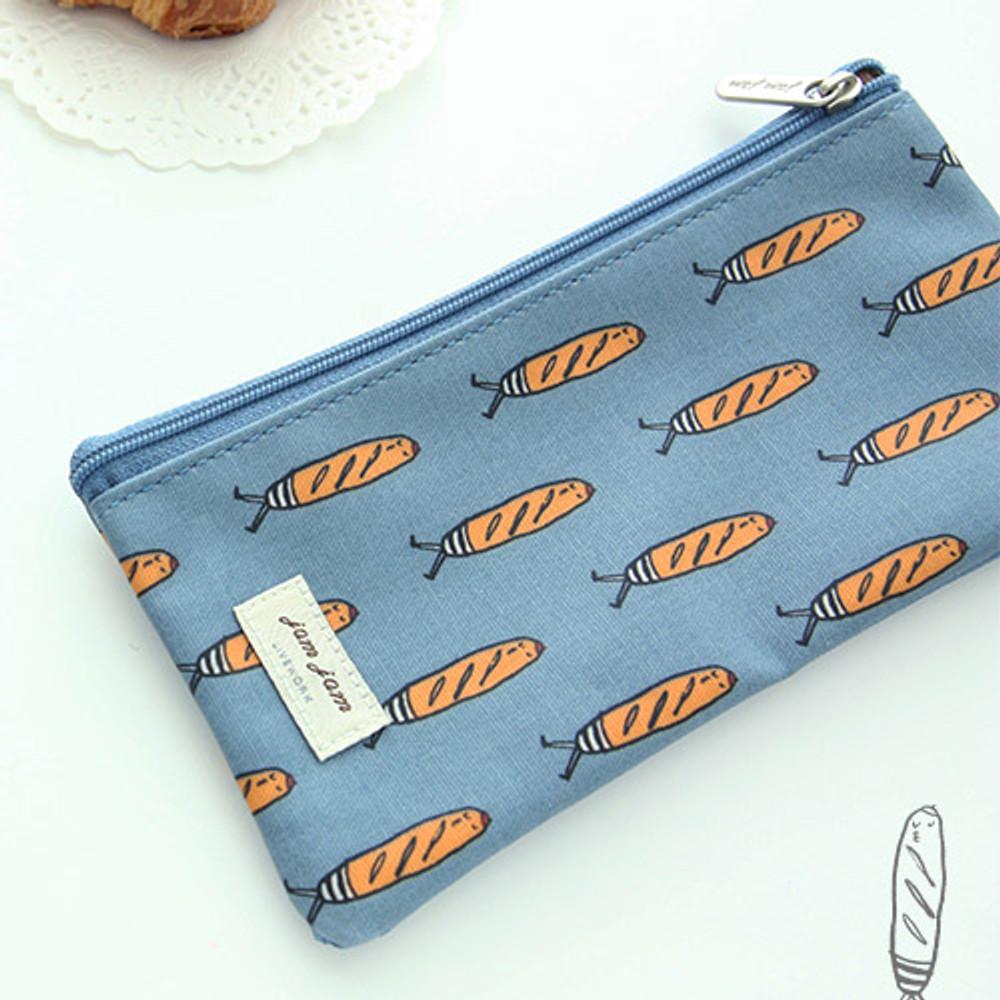 Baguette - Jam Jam pattern zipper pouch
