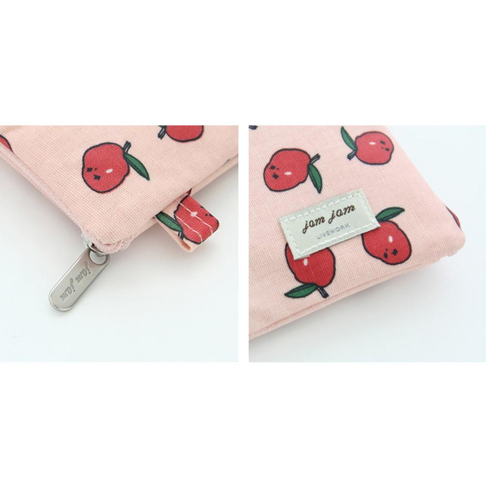 Detail of Jam Jam pattern zipper pouch