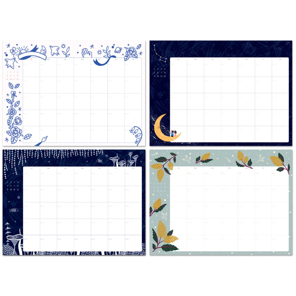 Monthly plan - Wanna This Pour vous story undated diary