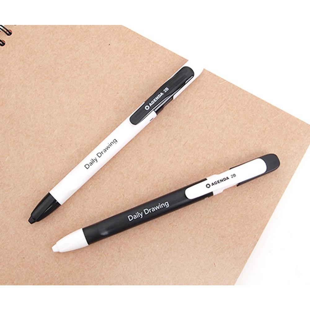 Drawing 2B sharp mechanical pencil