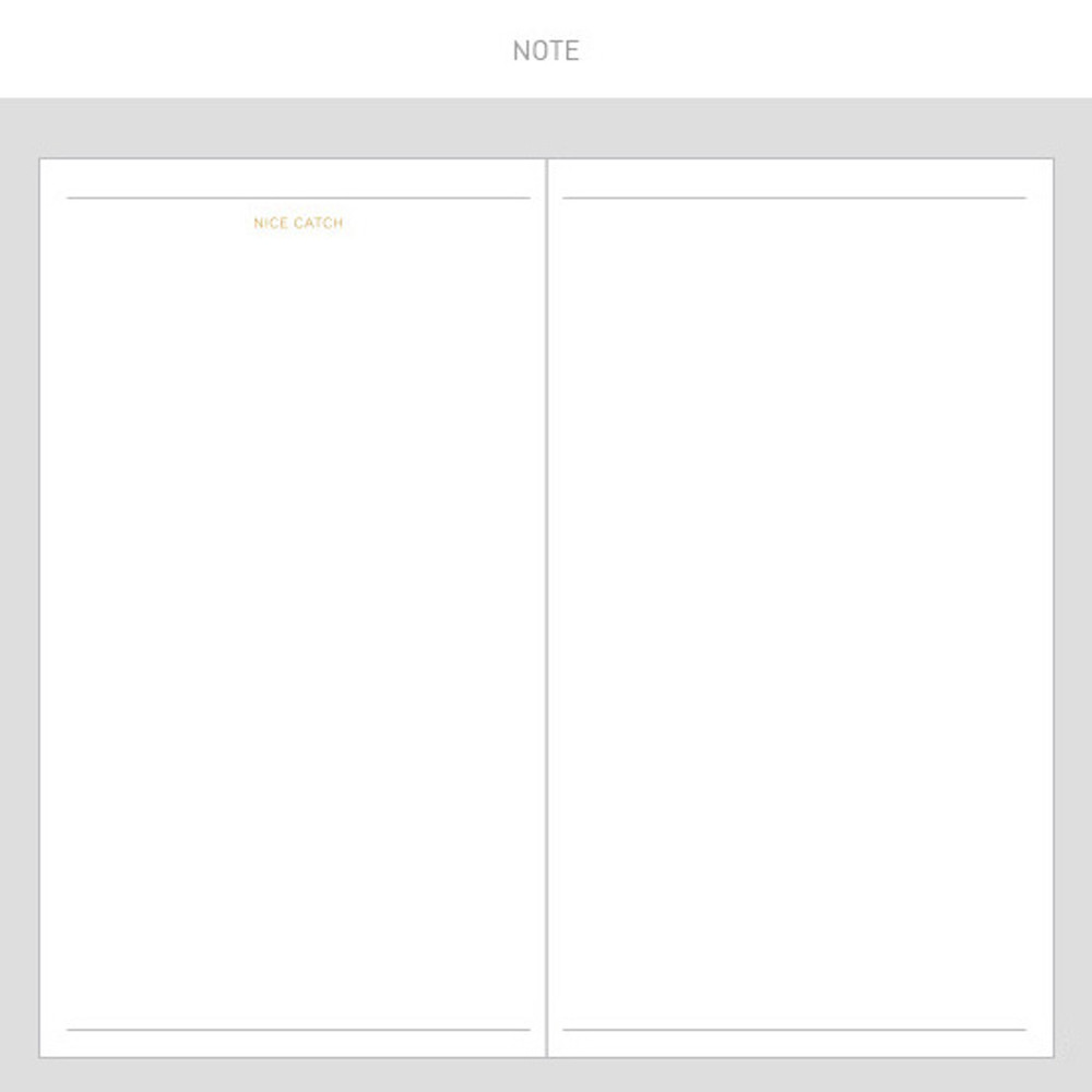 Note - 2017 Daily nice undated diary