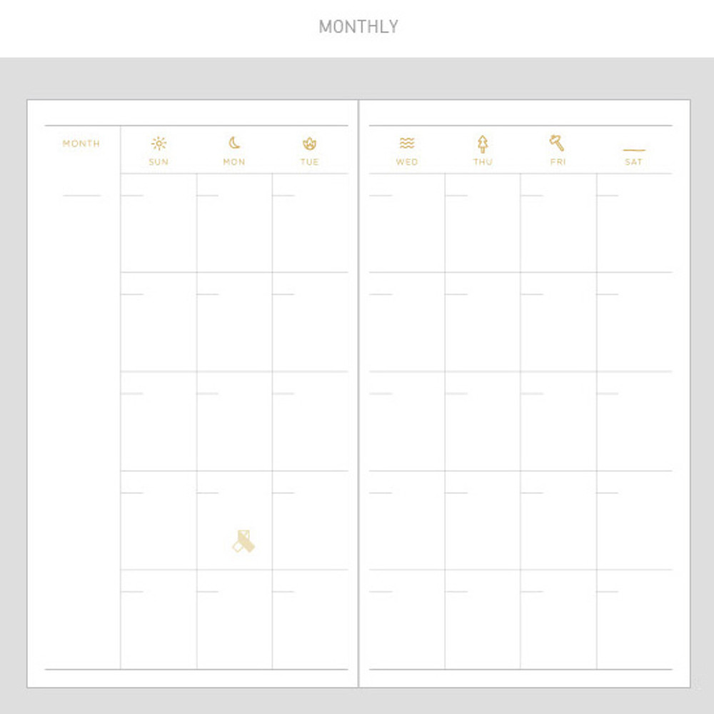Monthly - 2017 Daily nice undated diary