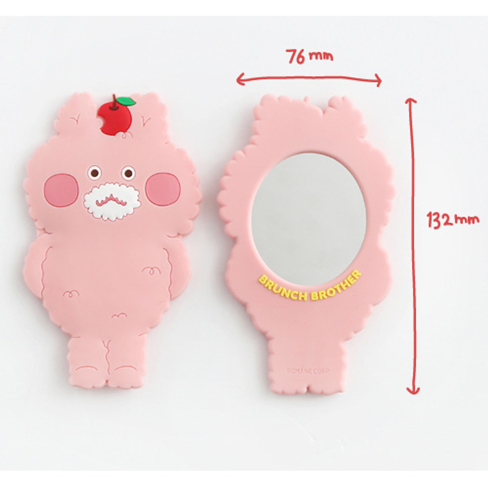 Size of Brunch brother pocket hand mirror