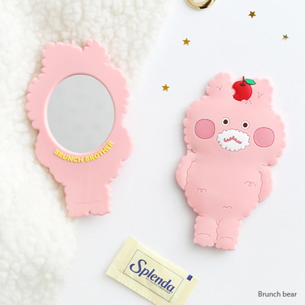 Bear - Brunch brother pocket hand mirror