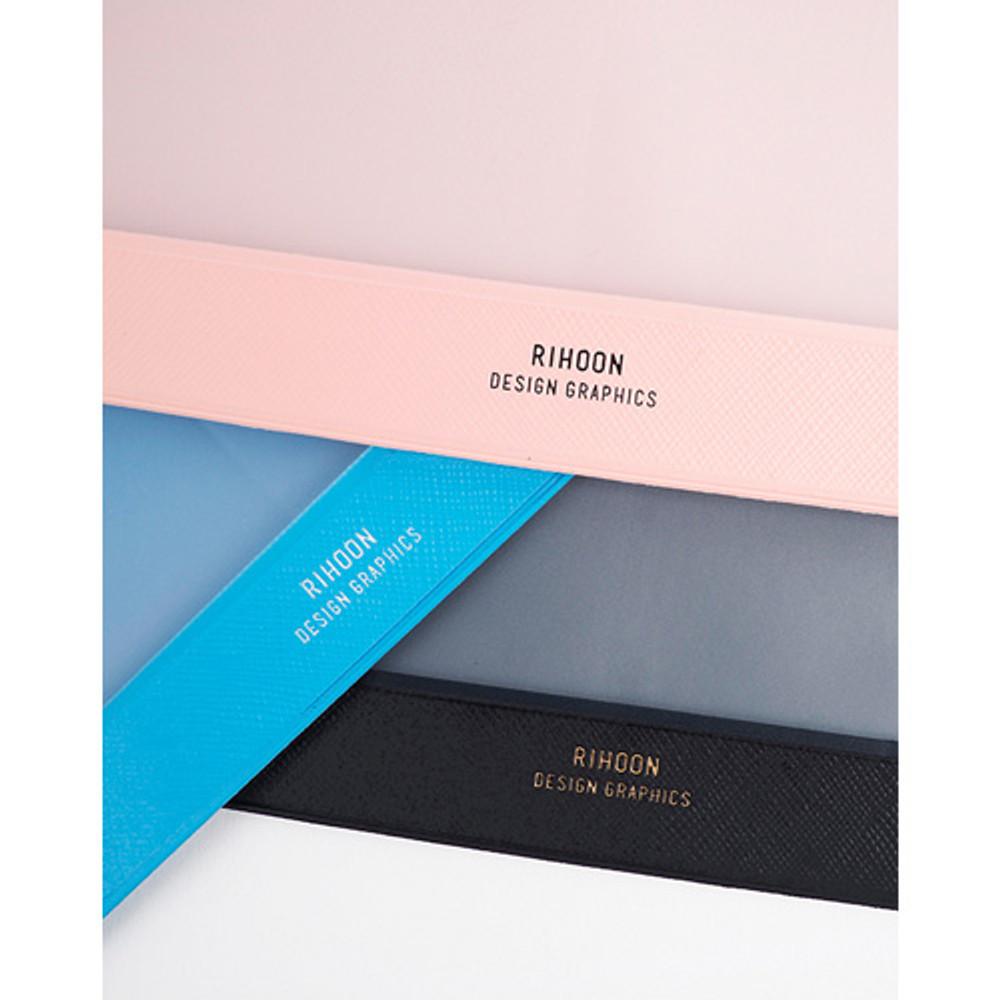 Rihoon Translucent large zip lock flat pouch