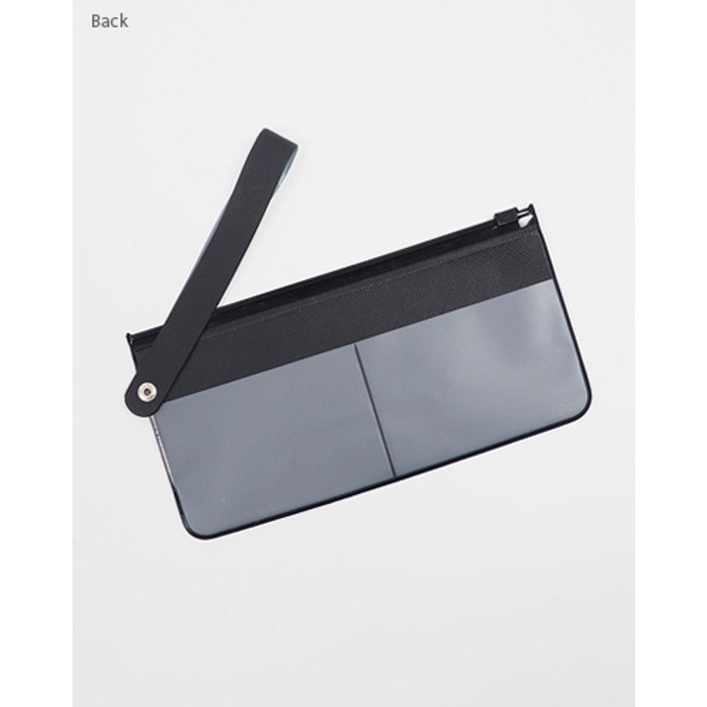 Black - Rihoon Translucent large zip lock flat pouch