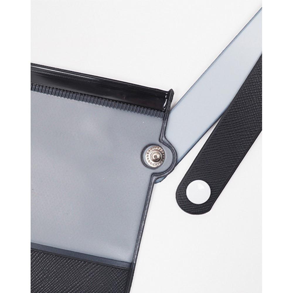 Strap - Rihoon Translucent large zip lock flat pouch