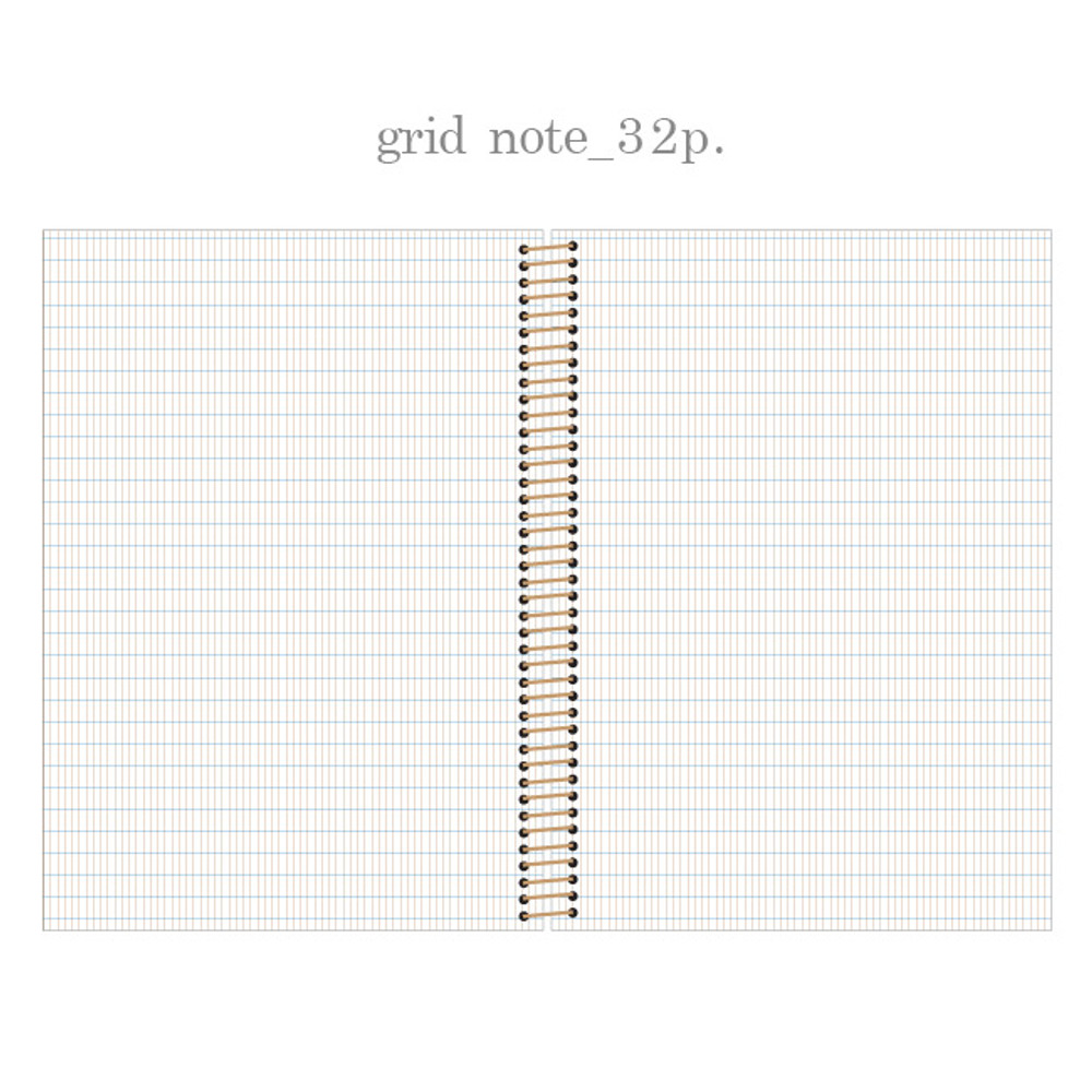 Gred note - Slow and simple wirebound monthly undated planner