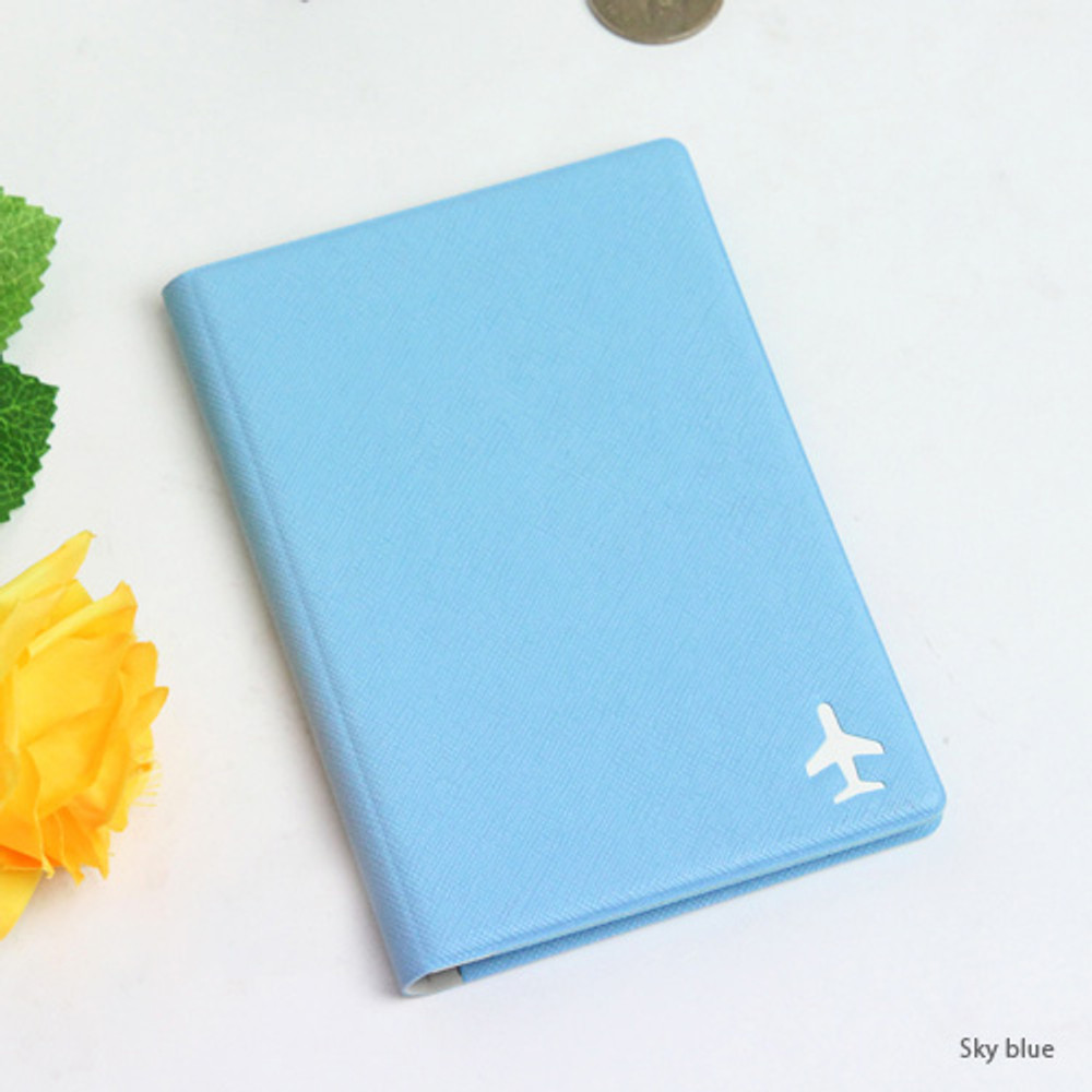Sky blue - Fenice Simple RFID blocking small passport cover
