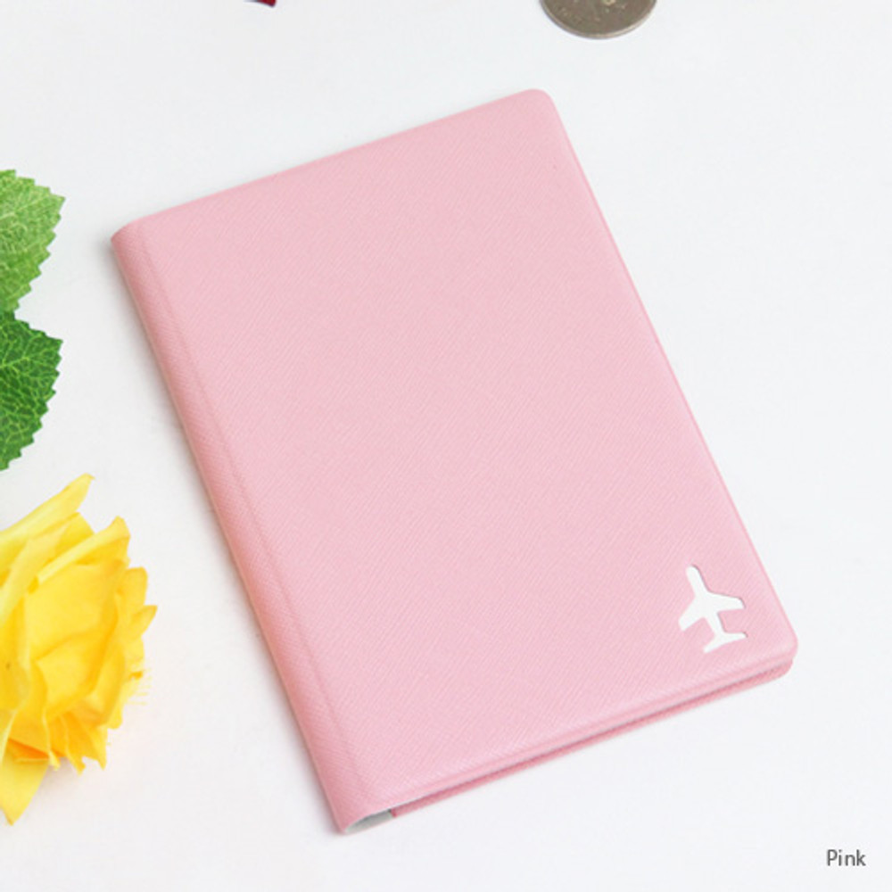 Baby pink - Fenice Simple RFID blocking small passport cover