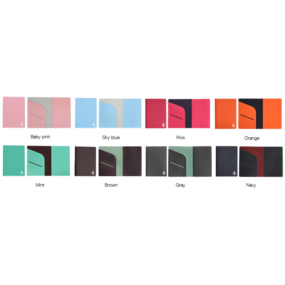 Color of Fenice Simple RFID blocking small passport cover