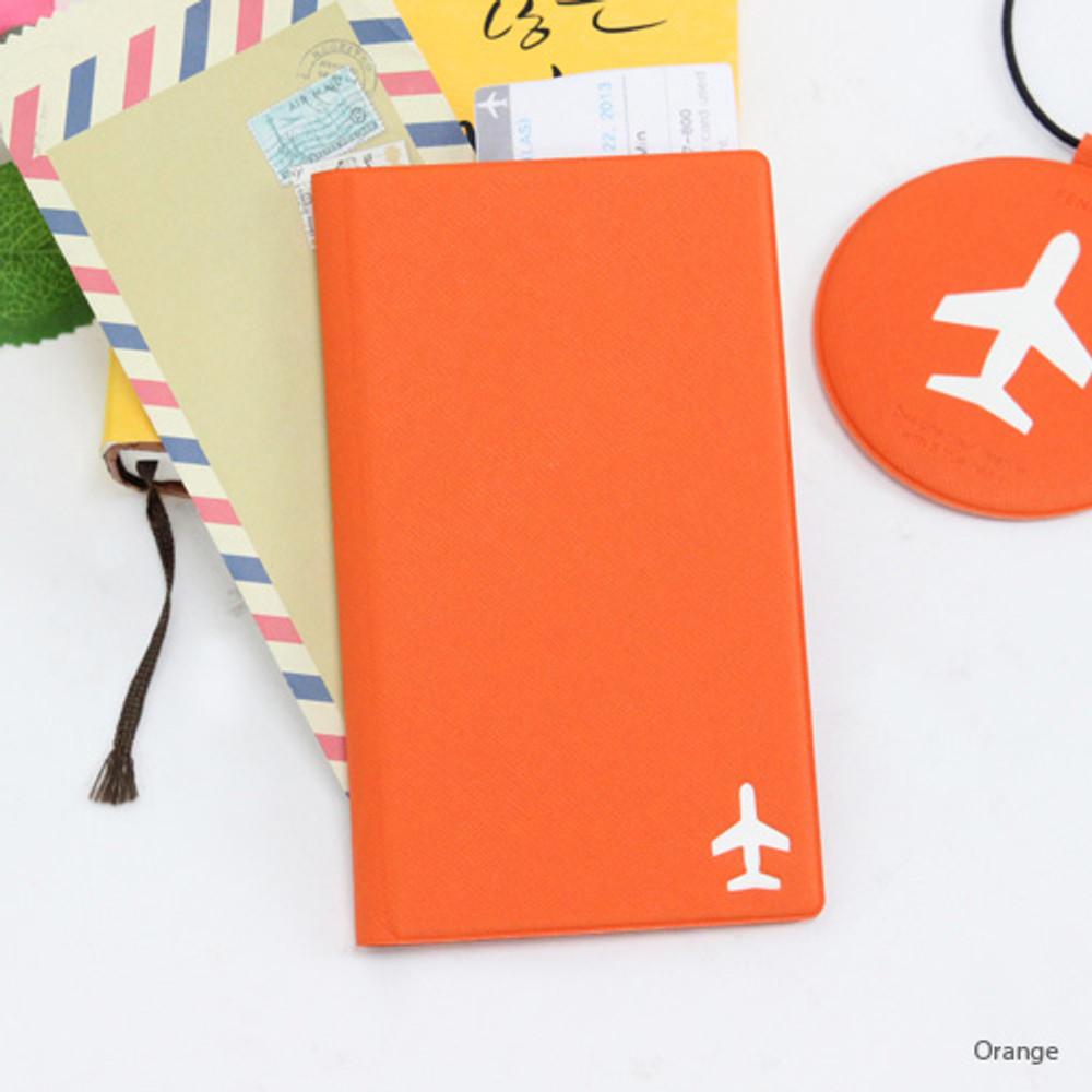 Orange - Fenice Simple RFID blocking medium passport cover