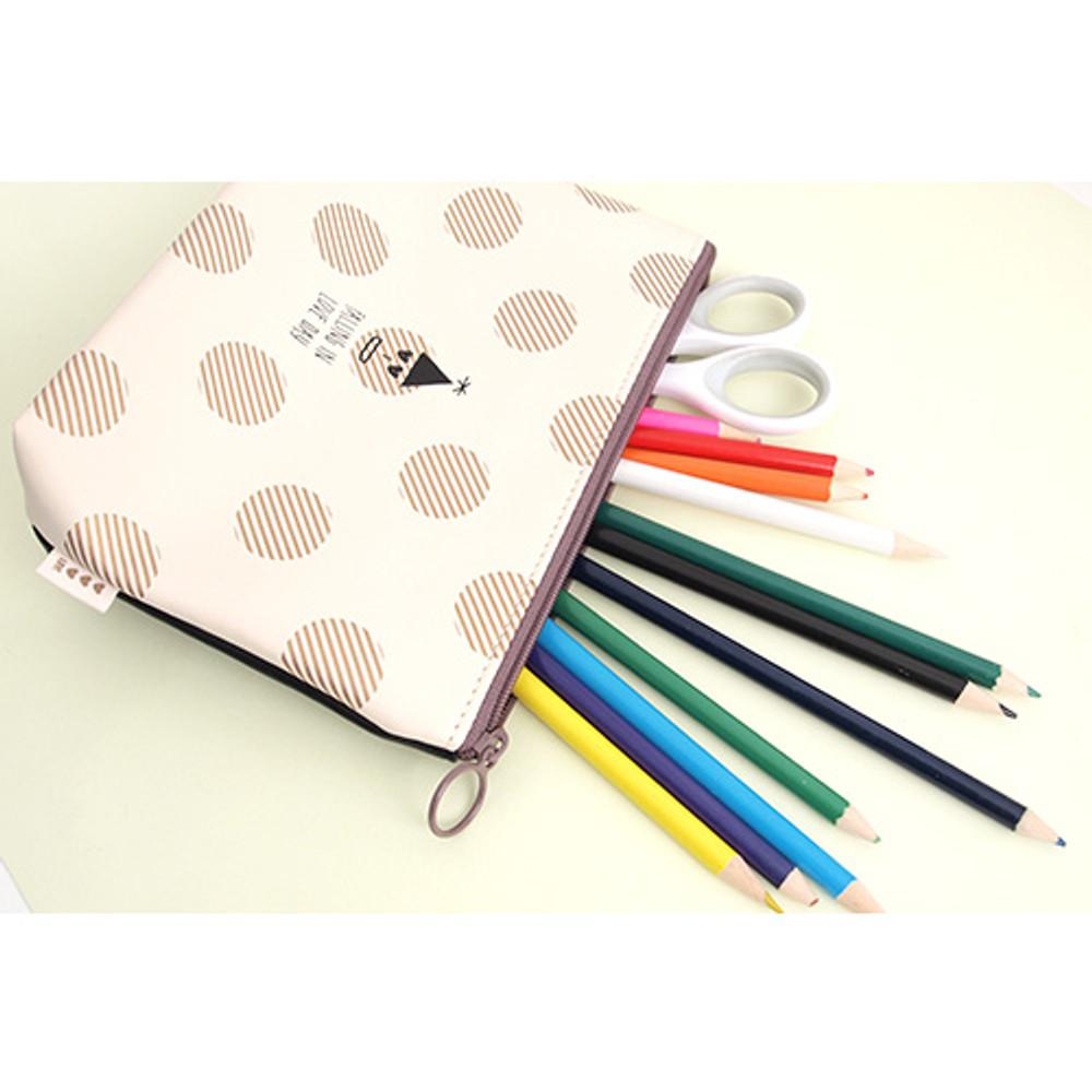 Falling in love day dot pattern zipper pouch