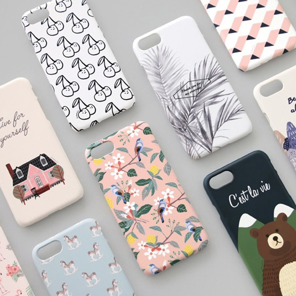 Iconic Pattern matte plastic hard case for iPhone 7