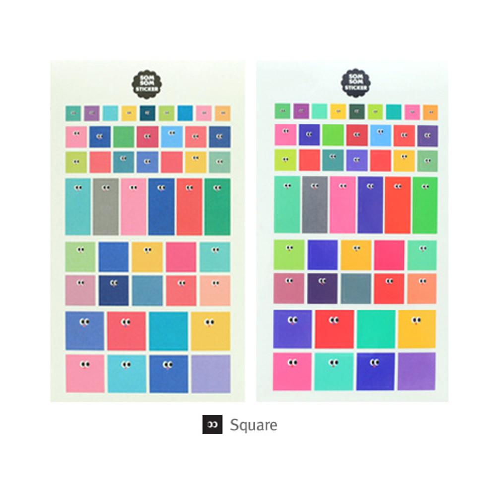Square - Livework Som Som cute deco sticker