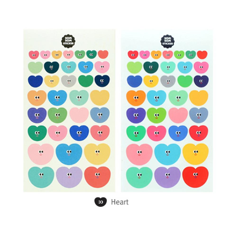 Heart - Livework Som Som cute deco sticker