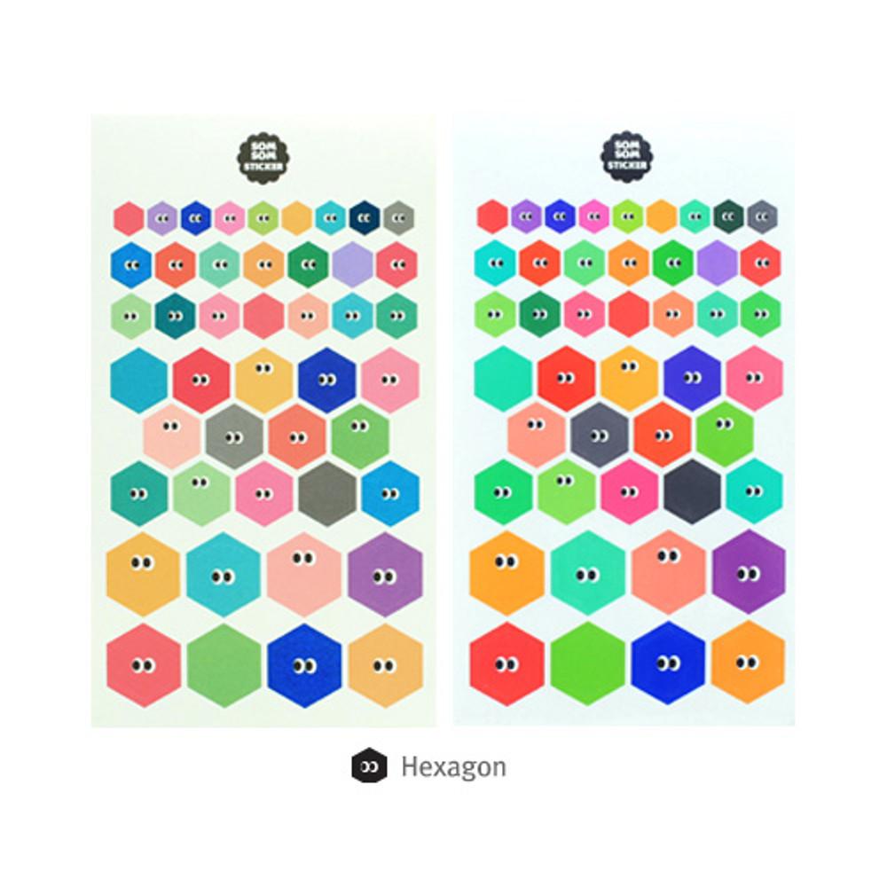 Hexagon - Livework Som Som cute deco sticker