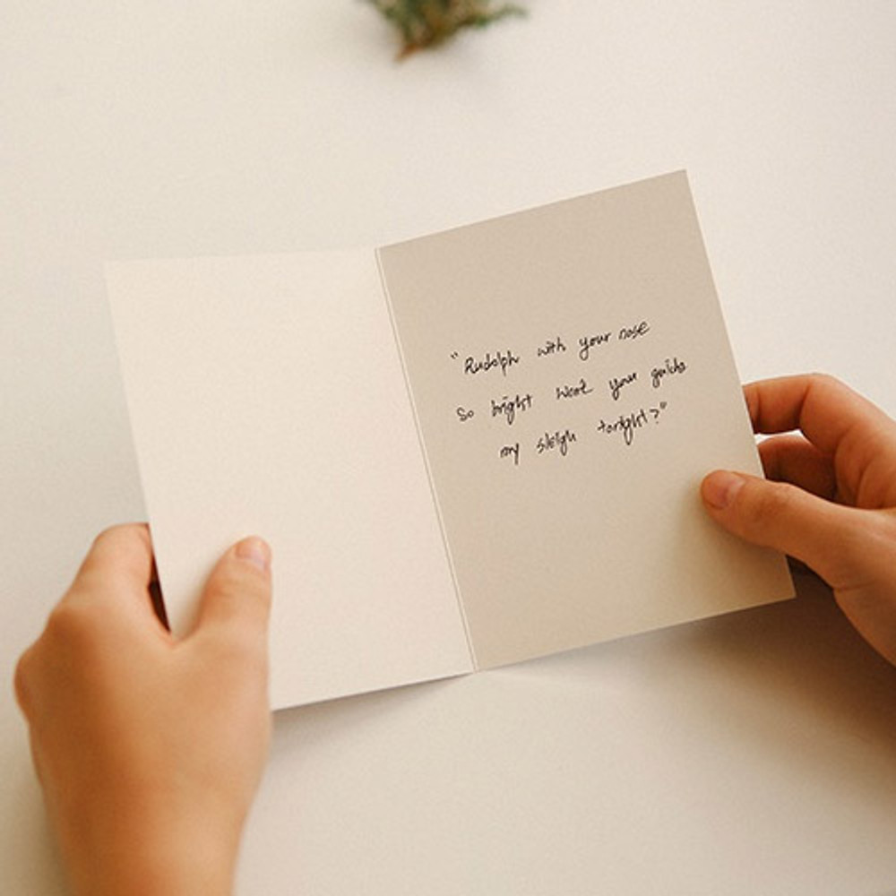 Dailylike Illustration note message card with envelope