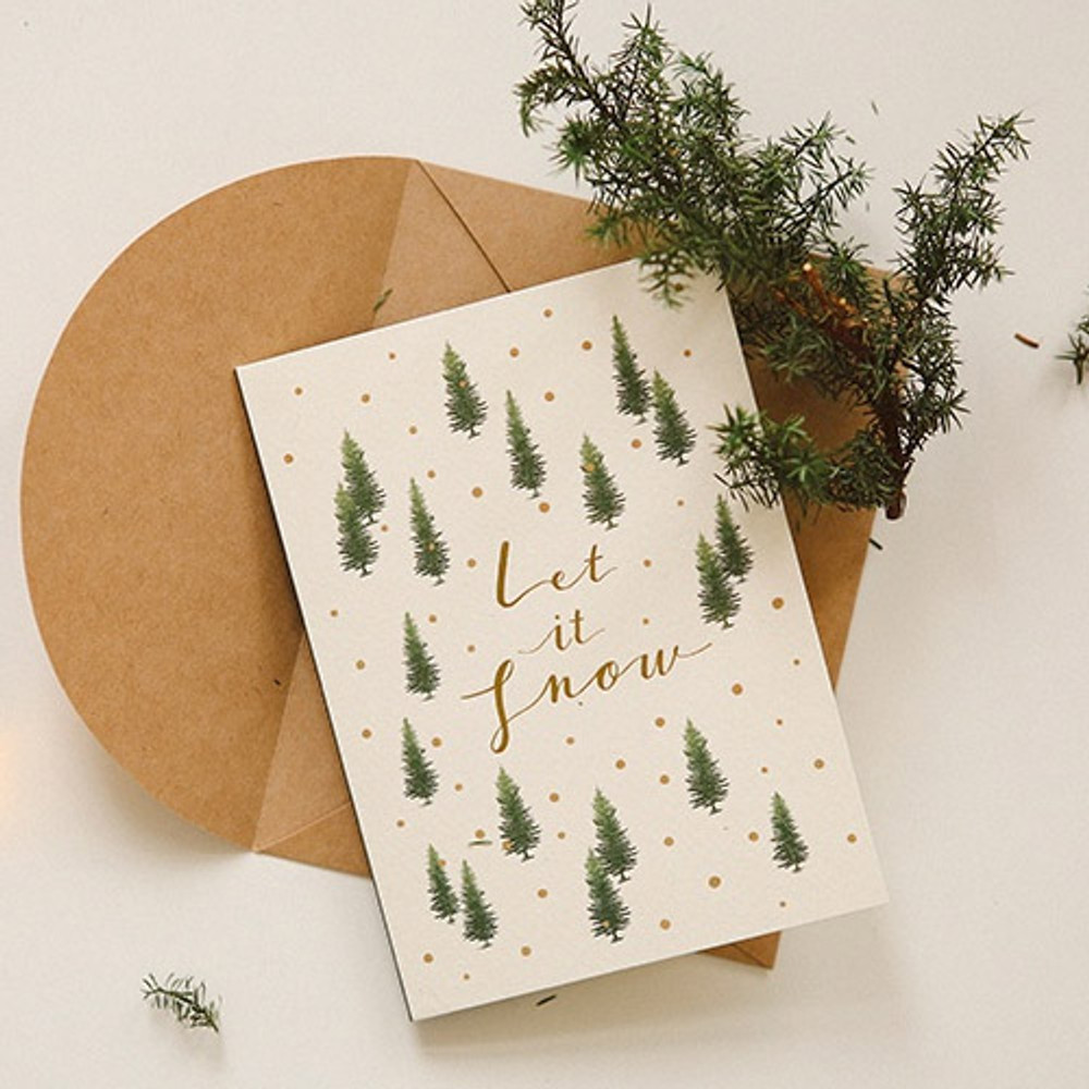 09 - Dailylike Illustration note message card with envelope