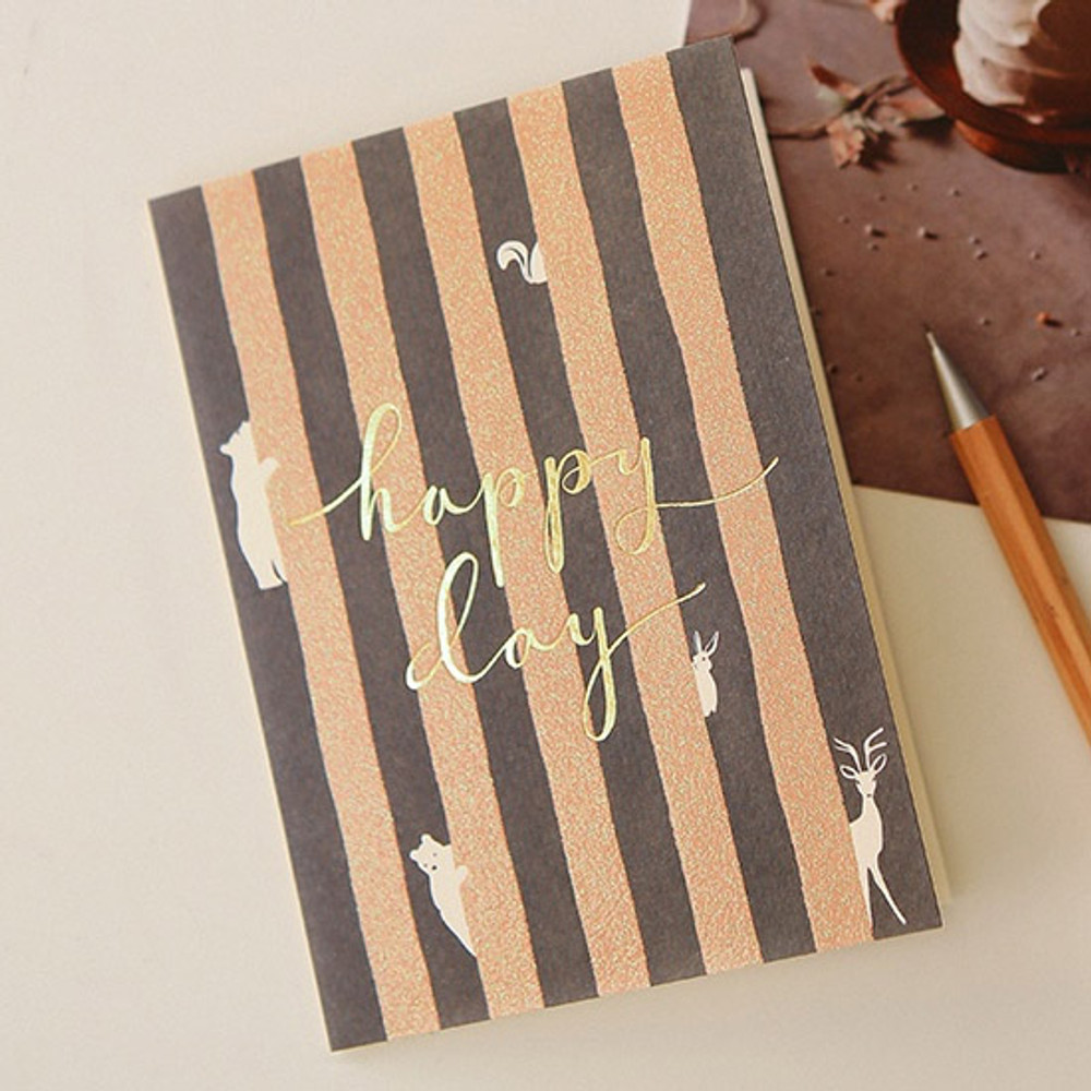 12 - Dailylike Illustration note message card with envelope