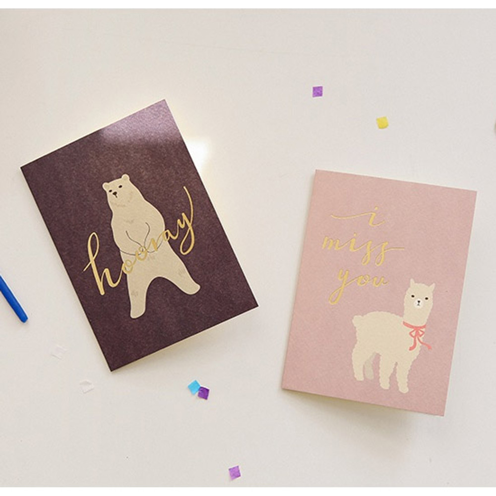03 / 04 - Dailylike Illustration note message card with envelope