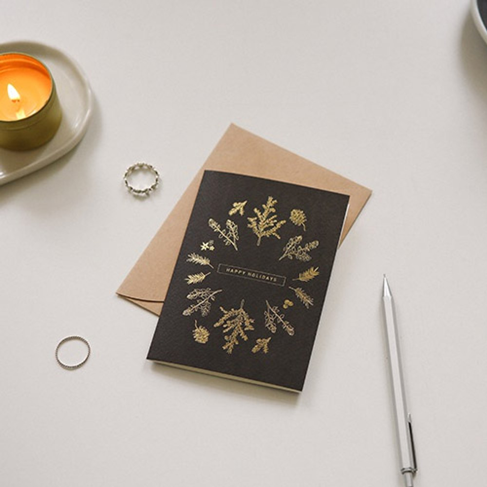 05 - Dailylike Illustration note message card with envelope