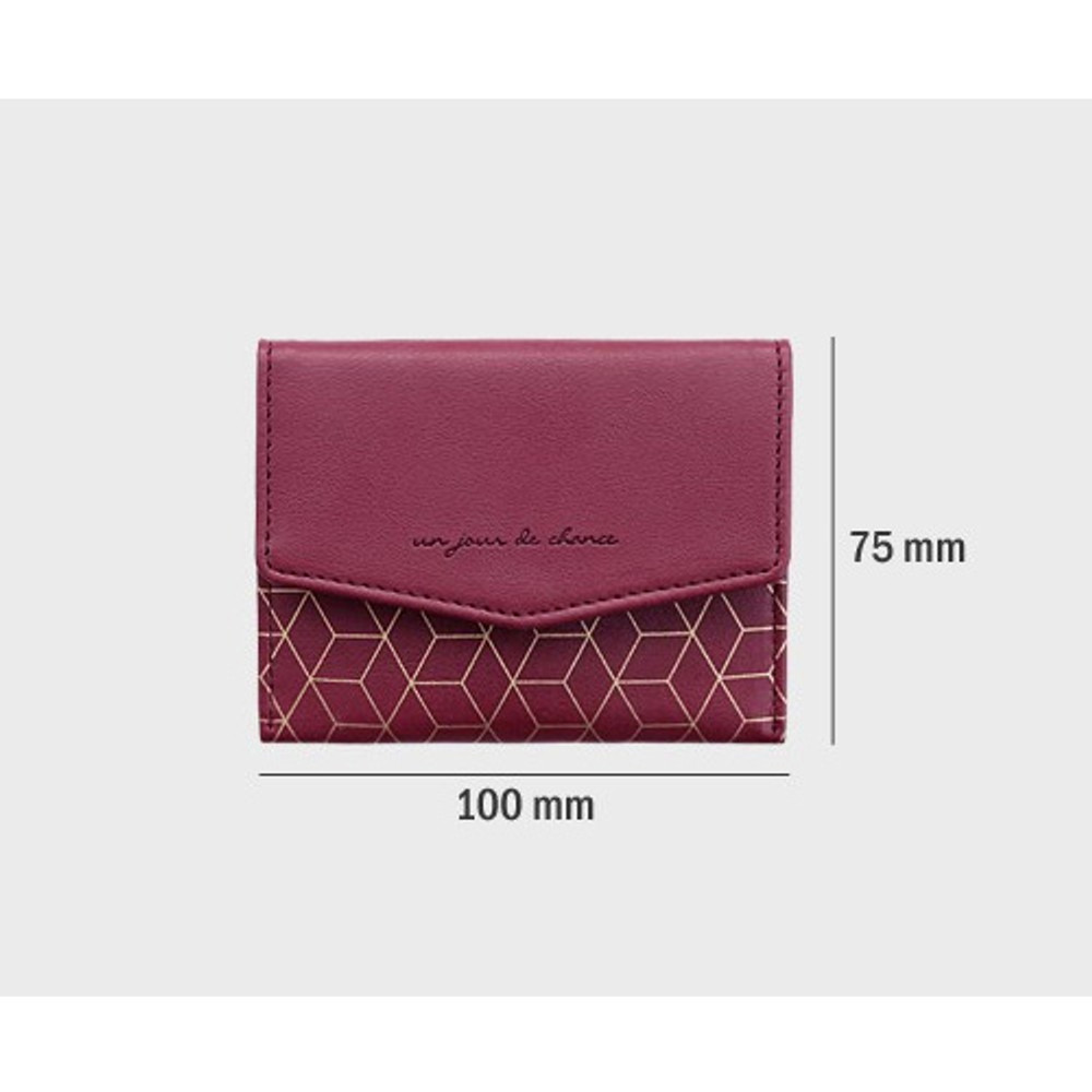 Size of Iconic Pochette pattern card case pocket wallet