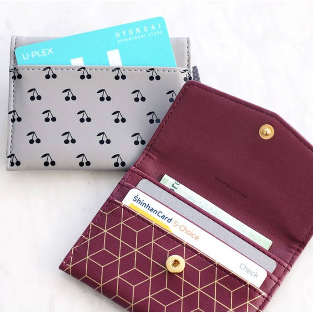 Iconic Pochette pattern card case pocket wallet