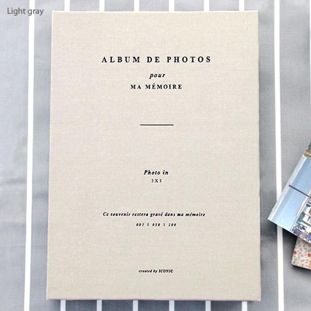 Light gray - Album de photos 3X5 slip in photo album