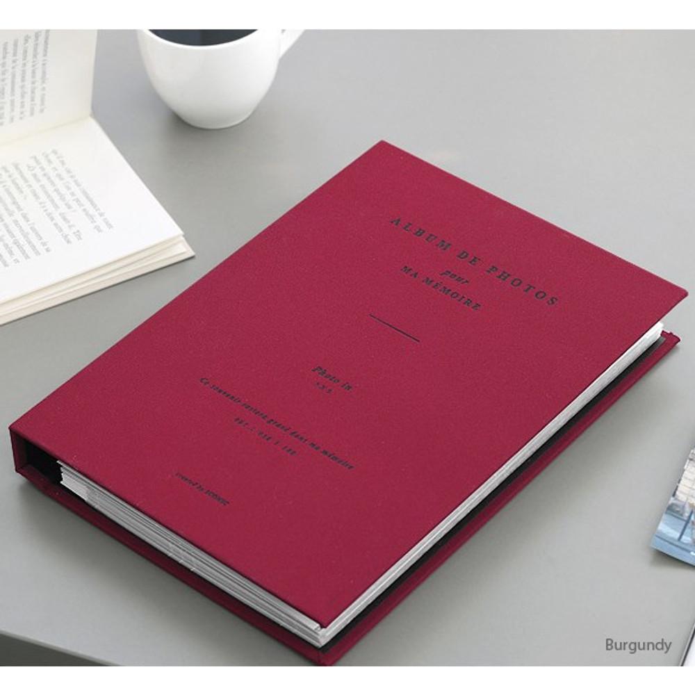 Burgundy - Album de photos 3X5 slip in photo album