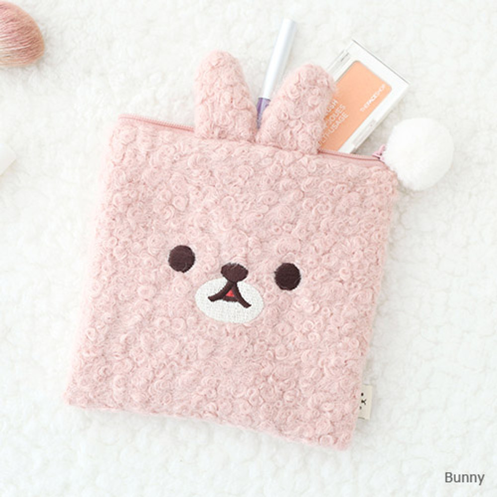 Bunny - Popuree poodle small zipper pouch