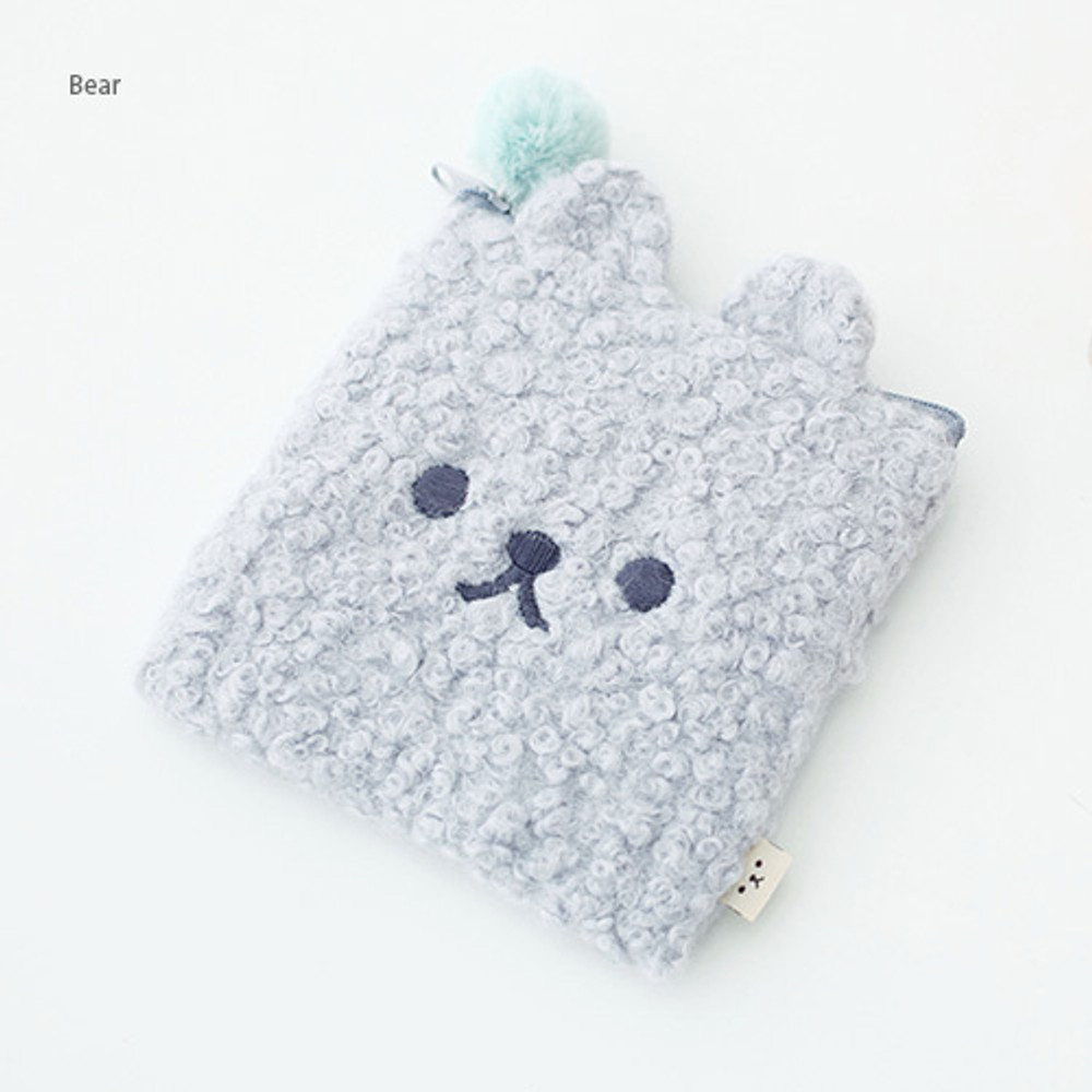 Bear - Popuree poodle small zipper pouch