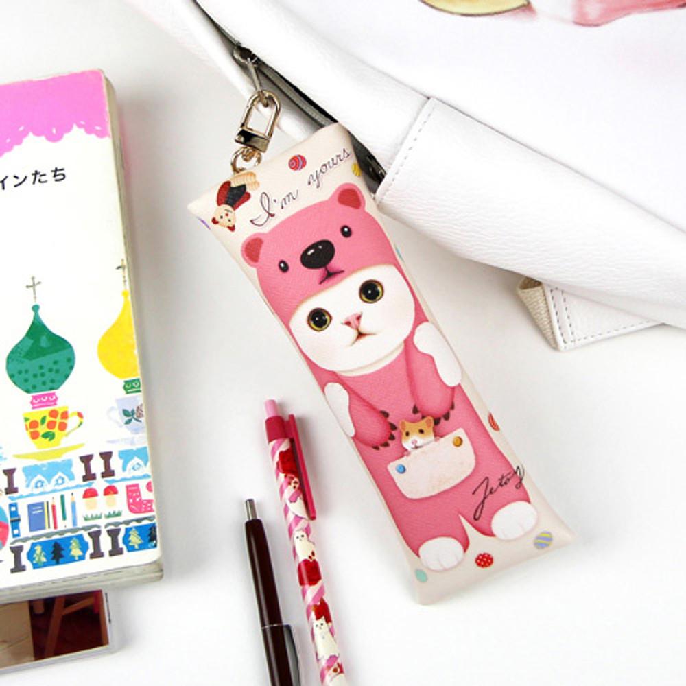 Choo Choo cat slim pencil case
