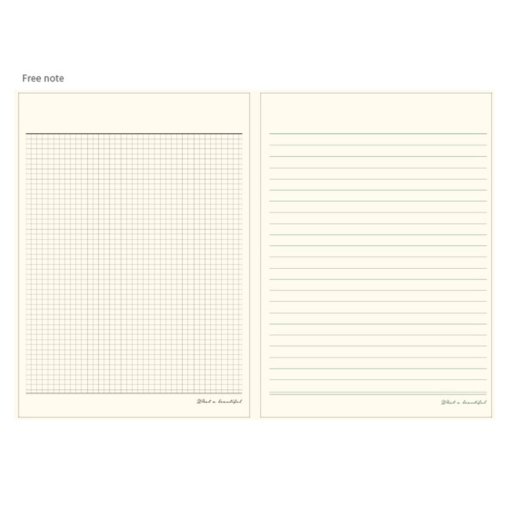 Free note - What a beautiful weekly undated diary scheduler