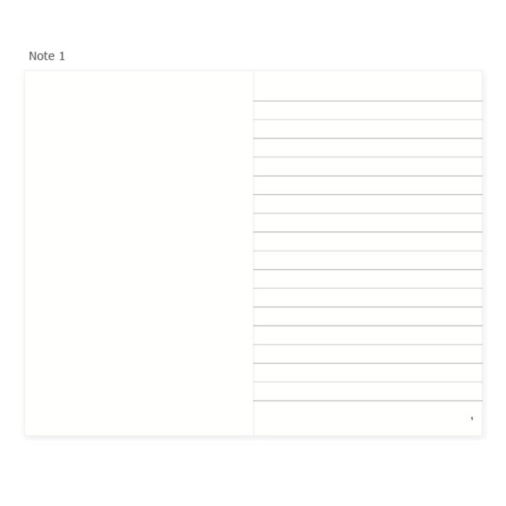 Note 1 - Mon petit agenda weekly undated diary scheduler