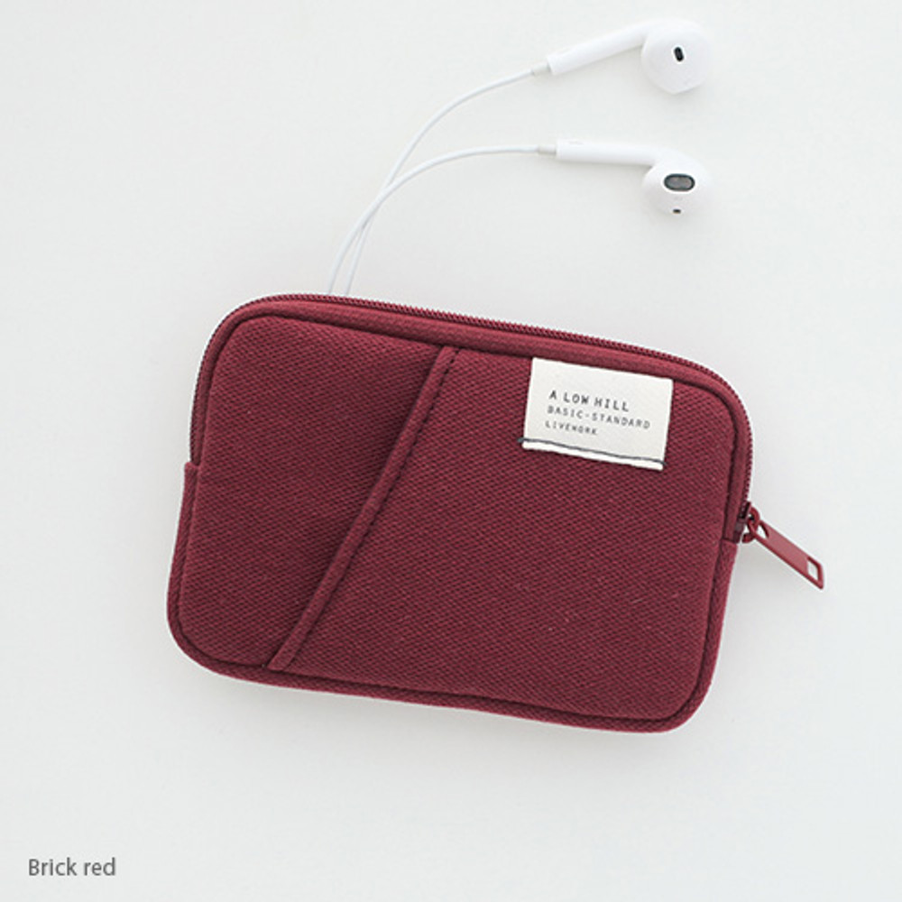 Brick red - A low hill basic standard pocket card case ver.2