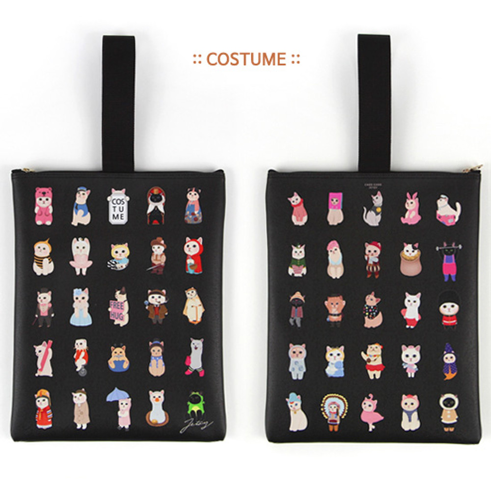 Costume - Choo Choo cat cori zipper tote bag