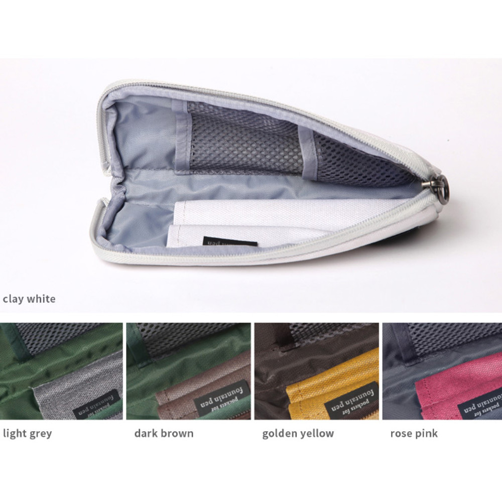 Byfulldesign Draw up a plan half zip around pencil pouch