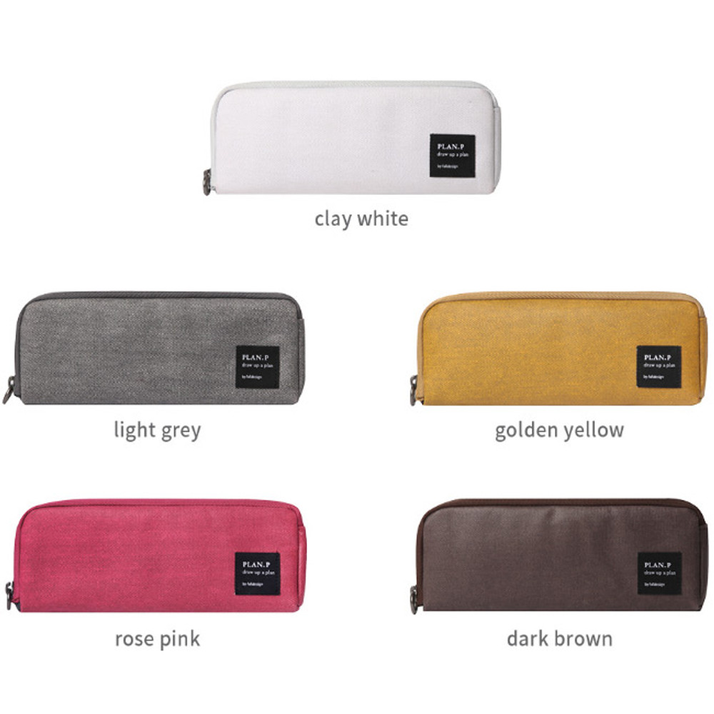 Color of Byfulldesign Draw up a plan half zip around pencil pouch
