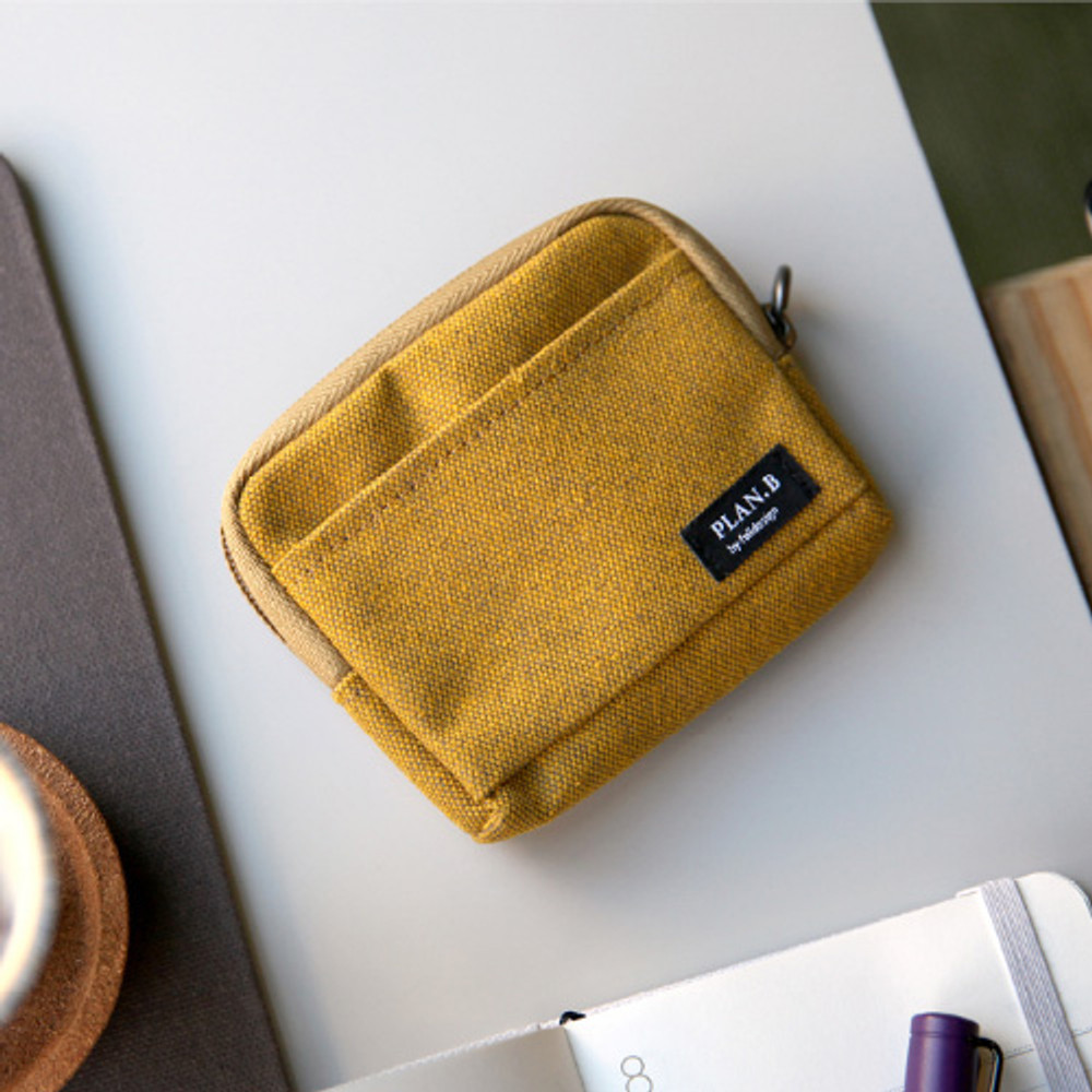 Golden yellow - multi small pocket pouch