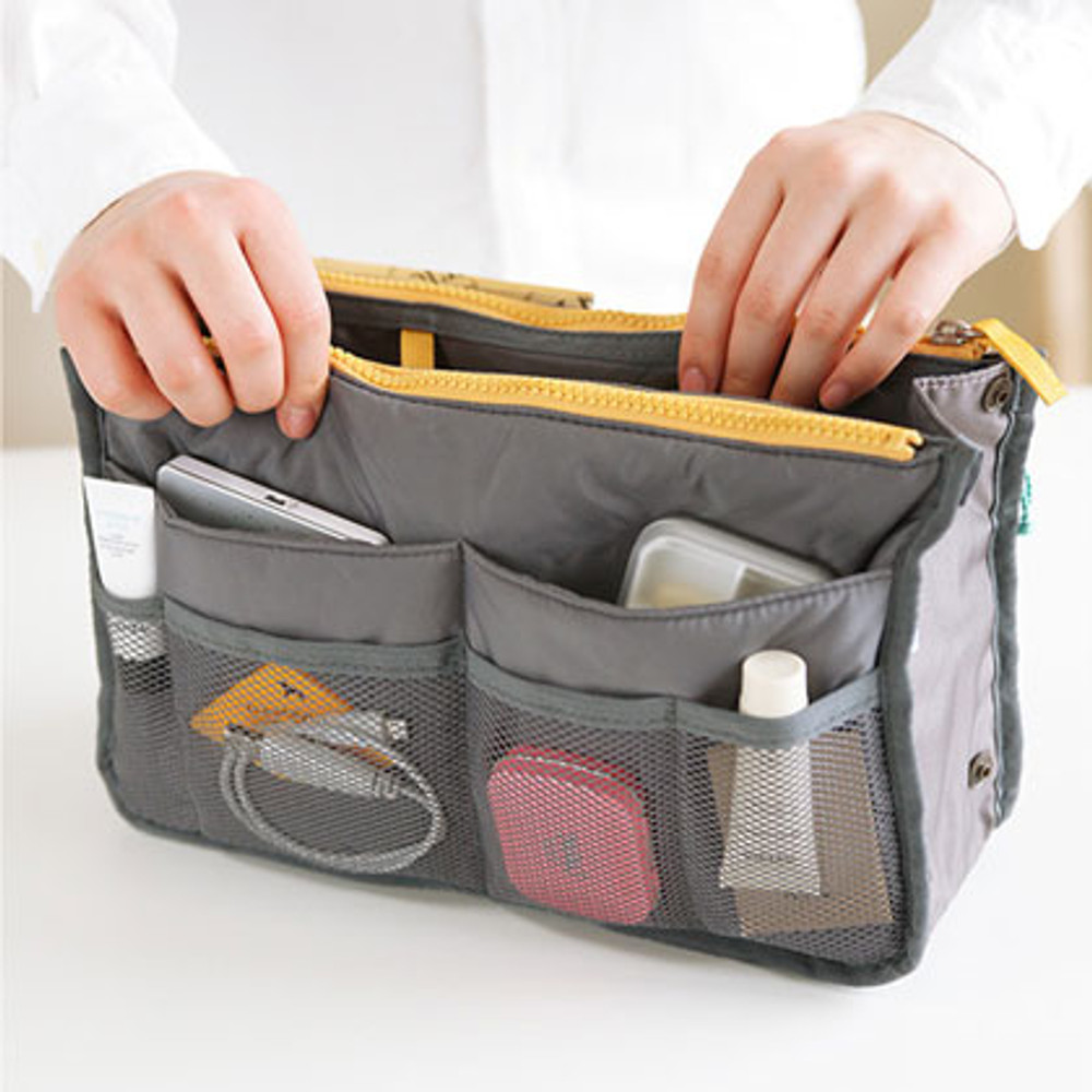 Dual bag in bag - slate gray