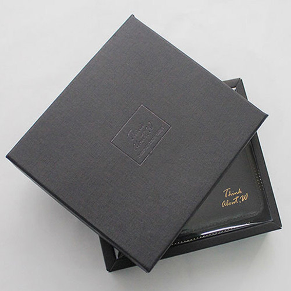 Package - Think about w Genuine Leather zip around wallet